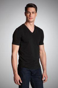HUGO-Minimalist-V-Neck-Short-Sleeve-Dredos-T-Shirt-3